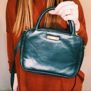 Vintage Bags - Vintage Black Handbag & Detachable Crossbody